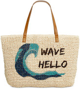 Style&Co. Style & Co Wave Straw Beach Bag Tote, Only at Macy's