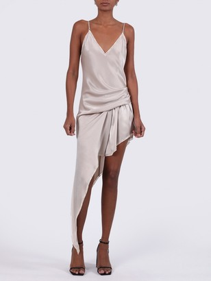 Alexander Wang Asymmetric Cami Slip Dress Champagne