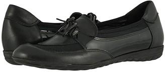 Sesto Meucci Brent (Black Nappa/Black Patent) Women's Shoes
