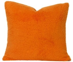 "Crayola Playful Plush Outrageous Orange 26"" Designer Euro Throw Pillow"