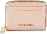 MICHAEL Michael Kors Crackled leather zip-around card case