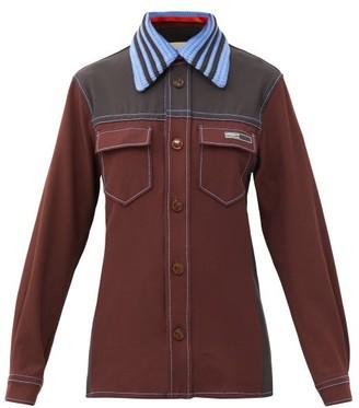 Adidas X Wales Bonner - Rock Crochet-collar Twill Overshirt - Brown