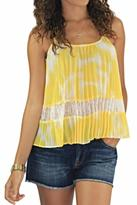 BCBGeneration Lace Pleated Tank