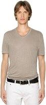 John Varvatos Linen Jersey V-Neck T-Shirt