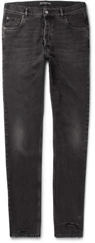 Balenciaga Distressed Denim Jeans - Black