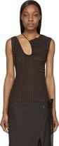 CNC Costume National Black Zucca Striped Drape Top