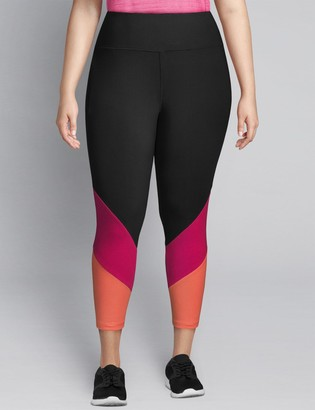 Lane Bryant LIVI Capri Power Legging - Colorblock Hem