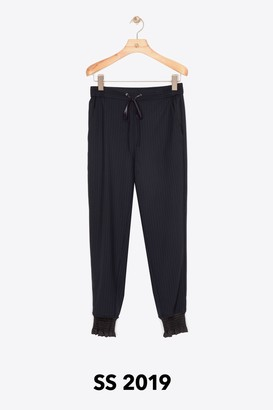 3.1 Phillip Lim Pinstripe Jogger with Piping