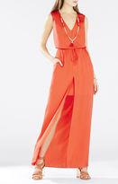 BCBGMAXAZRIA Taren Slit-Front Drawstring Dress