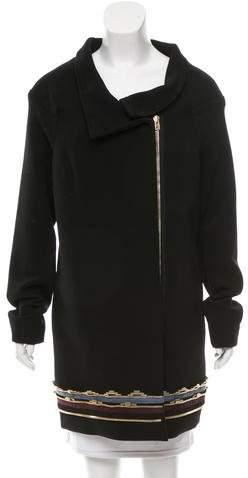 Roland Mouret Embellished Wool Coat