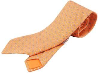 Hermã ̈S HermAs Orange Silk Ties