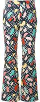 Rossella Jardini - brush stroke print trousers - women - Silk/Cotton - 40