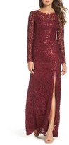 Sequin Hearts Women's Sequin Lace Gown