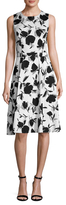 Ava & Aiden Solid Fit And Flare Dress