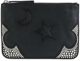 McQ moon and star embossed clutch