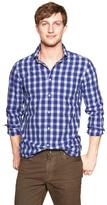 Gap Lived-in wash square plaid shirt