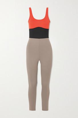 Ernest Leoty Clementine Color-block Stretch Bodysuit - Taupe