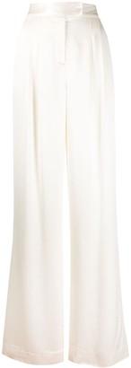 Veronica Beard Noel high-waisted wide leg trousers
