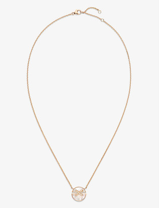 Chaumet Jeux de Liens Harmony 18ct rose-gold, mother-of-pearl and diamond necklace