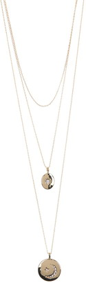 Area Stars Bling Disc Layered Necklace Set