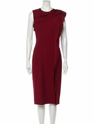 Jason Wu Collection Crew Neck Midi Length Dress w/ Tags Red