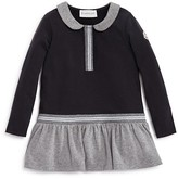 Moncler Girls' Two Tone Dropped Waist Knit Dress - Sizes 8-14