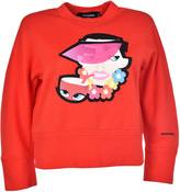 DSQUARED2 Visor Cropped Sweatshirt