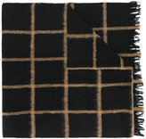 Dondup frayed edges plaid scarf - men - Polyamide/Wool - One Size