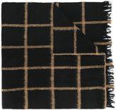 Dondup frayed edges plaid scarf