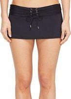 Bleu Rod Beattie Women's Cruise Control Skirted Hipster Bikini Bottom
