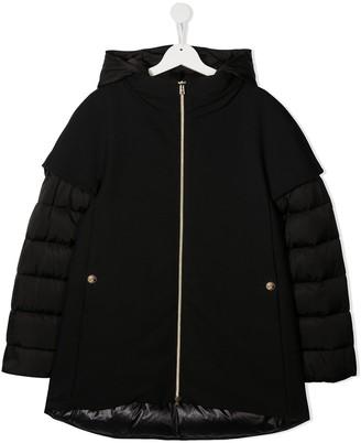 Herno TEEN layered padded coat