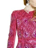 Balmain Embroidered Nubuck Dress