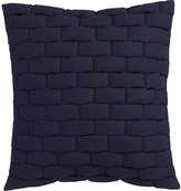 "CB2 Mason Quilted Navy 18"" Pillow"