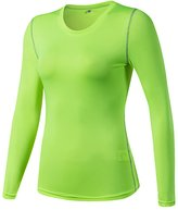 YiJee Womens Slim Sports Shirts Fitness Running Top Long Sleeves Compression L
