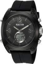 Kenneth Cole Reaction Men's Quartz Metal and Rubber Casual Watch, Color: (Model: RKC0169002)