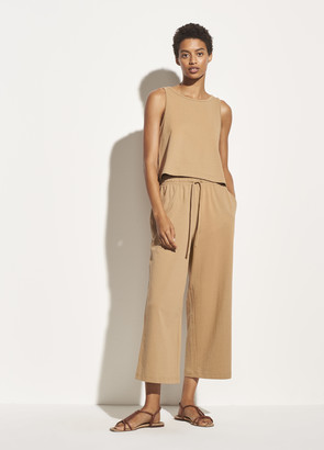Vince Cropped Wide Leg Pull On Pant