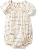 Old Navy Sparkle-Patterned Flutter-Sleeve Bubble Romper for Baby