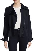 Armani Collezioni Spread Collar Wool Coat