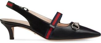 Gucci Mid-heel pump with Web