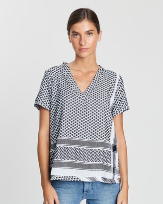Cecilie Copenhagen Women's Black Short Sleeve Tops - Shirt V Short Sleeves - Size XS at The Iconic