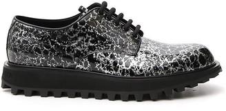 Dolce & Gabbana Splatter Effect Lace-Up Shoes