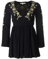 Little White Lies Hortense Bell Sleeve Embroidered Dress