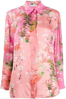 Givenchy floral print long-sleeved shirt