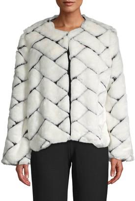 Lea & Viola Textured Faux Fur Jacket