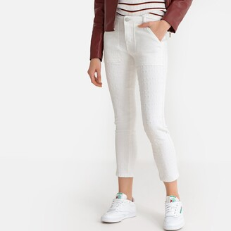 """La Redoute Collections Regular Straight Cut Distressed Jeans, Length 26.5"""""""