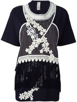 Antonio Marras embroidered fringed top