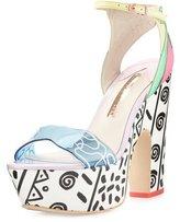 Sophia Webster Jade Malibu Leather Platform Sandal, Multi