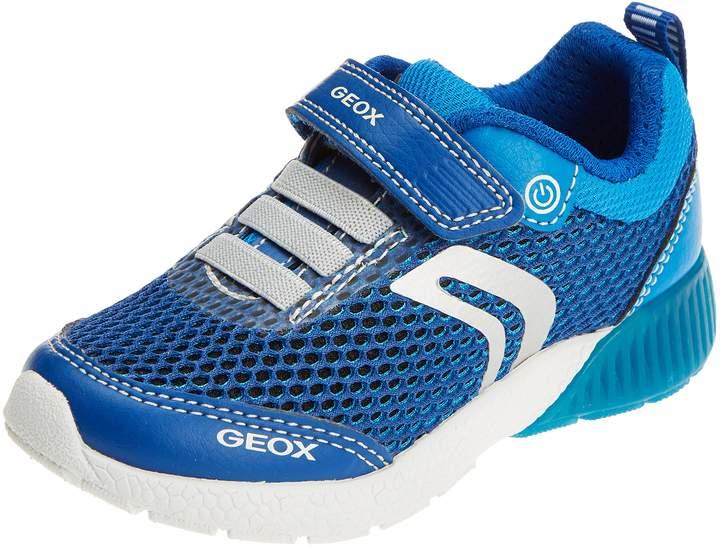 Geox Boy's J SVETH BOY Sneakers, Black/Orange
