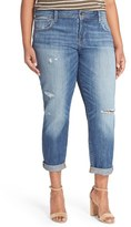Lucky Brand Plus Size Women's 'Reese' Distressed Boyfriend Jeans