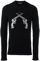 Dolce & Gabbana pistol patch jumper